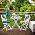 Produktové foto LODGE Set zahradního nábytku 2 ks židle a 1 ks stůl - bílá