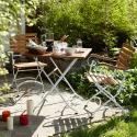 Produktové foto PARKLIFE Skládací židle - hnědá/bílá