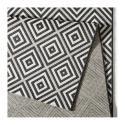 Produktové foto Černo-bílý venkovní koberec Bougari Karo, 160x230cm