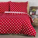 Produktové foto 4Home Bavlněné povlečení Červený puntík, 220 x 200 cm, 2 ks 70 x 90 cm