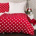 Produktové foto 4Home Krepové povlečení Červený puntík, 220 x 200 cm, 2 ks 70 x 90 cm