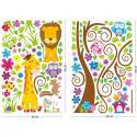 Produktové foto Samolepicí dekorace barevný les zvířat