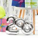 "Produktové foto UPPER CLASS Fóliový balónek ""8"" - stříbrná"