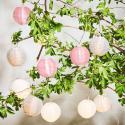 Produktové foto OPEN AIR Venkovní LED světelný řetěz 10 světel - pastelově růžová