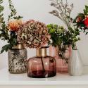 Produktové foto GRACE Váza 20 cm - šedá/zlatá