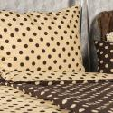Produktové foto 4Home Bavlněné povlečení Puntík Čokoláda, 220 x 200 cm, 2 ks 70 x 90 cm