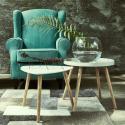 Produktové foto SWING TIME Příruční stolek - bílá