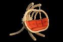 Produktové foto DEOKORK Houpací křeslo PETRA s nohami terakotta