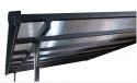 Produktové foto Pergola 314 x 305 cm (černá+šedý polykarbonát)