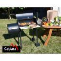 Produktové foto Cattara Gril na dřevěné uhlí s udírnou Smokie, 100 x 55 x 113 cm