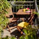 Produktové foto SOMERSET Set zahradního nábytku 2 ks židle a 1 ks stůl - hnědá