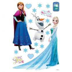 Samolepicí dekorace Elsa, Anna, 42,5 x 65 cm
