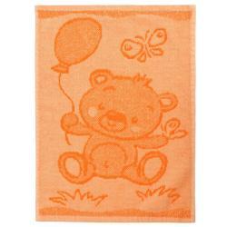 Profod Dětský ručník Bear orange, 30 x 50 cm