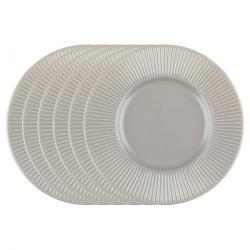 Florina Sada dezertních talířů Capri, 22 cm, 6 ks, hnědá