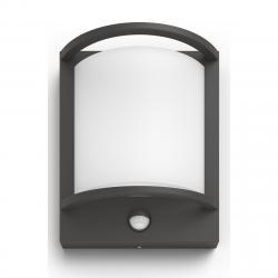 Philips 17392/93/P0 Samondra Venkovní nástěnné LED svítidlo s čidlem 22 cm, antracit