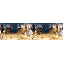 Samolepicí bordura Horses, 500 x 14 cm