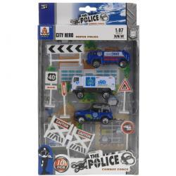 Dětský hrací set Policie, 10 ks