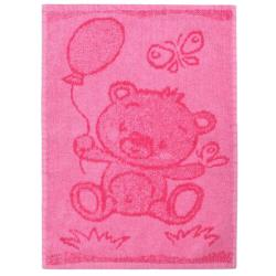 Profod Dětský ručník Bear pink, 30 x 50 cm