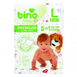 Bino Baby Přebalovací podložka Premium L 6 ks, 90 x 60 cm