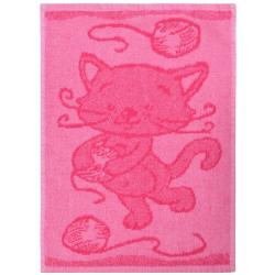 Profod Dětský ručník Cat pink, 30 x 50 cm