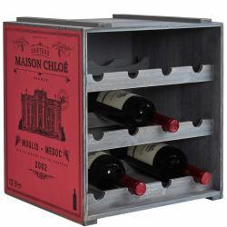 VINOTHEK Regál na víno - červená