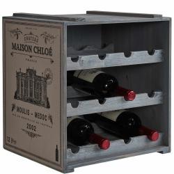 VINOTHEK Regál na víno - šedá