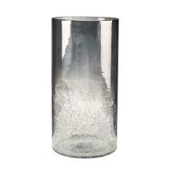 HURRICANE Lucerna 33 cm - stříbrná/šedá