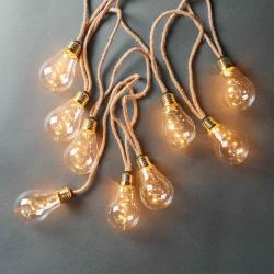 BULB LIGHTS Světelný řetěz žárovky 10 světel - přírodní