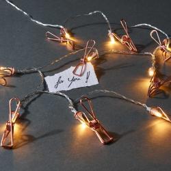 CLIP COUTURE LED Světelný řetěz s klipsy 10 světel
