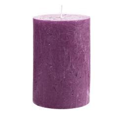 RUSTIC Svíčka 15 cm - fialová