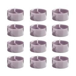 COULEURS Čajová svíčka set 12 ks - pastelově fialová