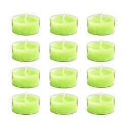 COULEURS Čajová svíčka set 12 ks - sv. zelená