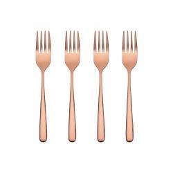 QUEENS Dezertní vidličky set 4 ks - růžová zlatá