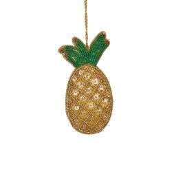 HANG ON Vánoční ozdoba ananas z korálků
