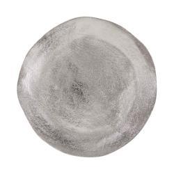 BANQUET Dekorační talíř 32 cm - stříbrná