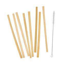 BAMBOO LOUNGE Bambusová brčka s kartáčkem na čištění set 8 ks