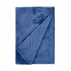 LAZY DAYS Flísová deka 150 x 200 - tm. modrá