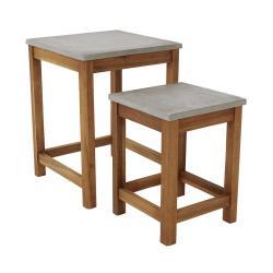 CONCRETE Odkládací stolek set 2 ks