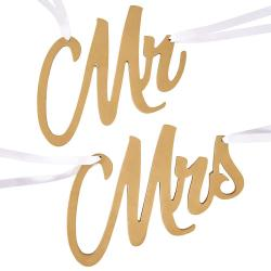 MR & MRS Značky na židli