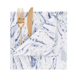 BLUE MARBLE Látkový ubrousek 45 x 45 cm