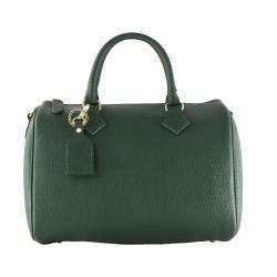 Zelená kožená kabelka Chicca Borse Rossi