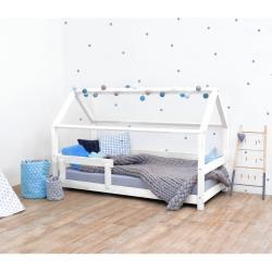 Bílá dětská postel s bočnicí ze smrkového dřeva Benlemi Tery, 90 x 200 cm