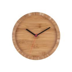 Hnědé nástěnné bambusové hodiny Karlsson Tom, ⌀26 cm