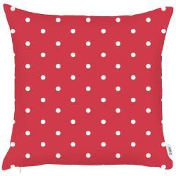 Červený povlak na polštář Apolena Dots, 43x43cm