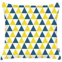 Modrožlutý povlak na polštář Mike&Co.NEWYORK Triangles, 43 x 43 cm