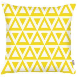 Žlutý povlak na polštář Mike&Co.NEWYORK Triangle, 43 x 43 cm