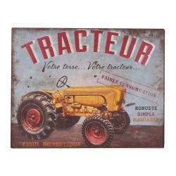 Dekorativní cedule Antic Line Tracteur