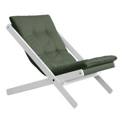 Skládací křeslo Karup Design Boogie White/Olive Green