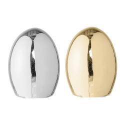 Sada 2 porcelánových dekorací Bloomingville Shiny Egg, ⌀8,5cm