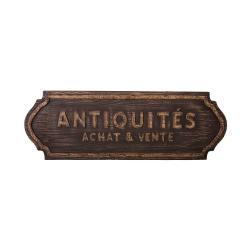 Nástěnná dřevěná cedule Antic Line Antiquités
